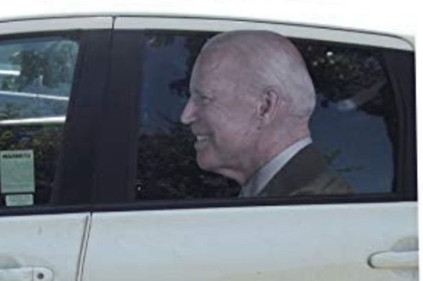 "This Funny Joe Biden Decal Gives ""Ridin' With Biden"" a Whole New Meaning"