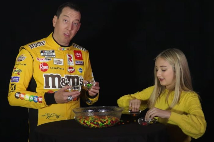 Kyle Busch Takes on NASCAR Kid Reporter in Skittles Counting Contest