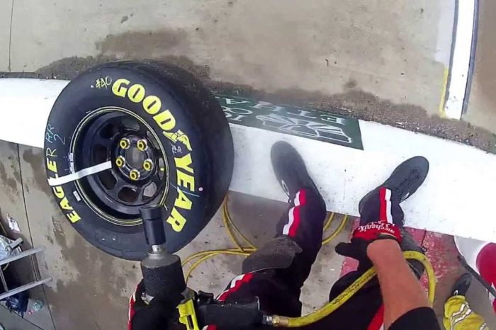 Awesome POV Video Shows a NASCAR Tire Changer in Action