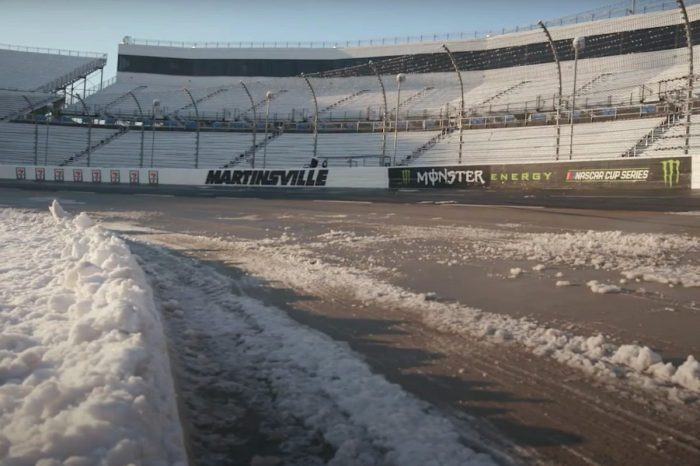 Martinsville Speedway Looks Magical After a Snowfall