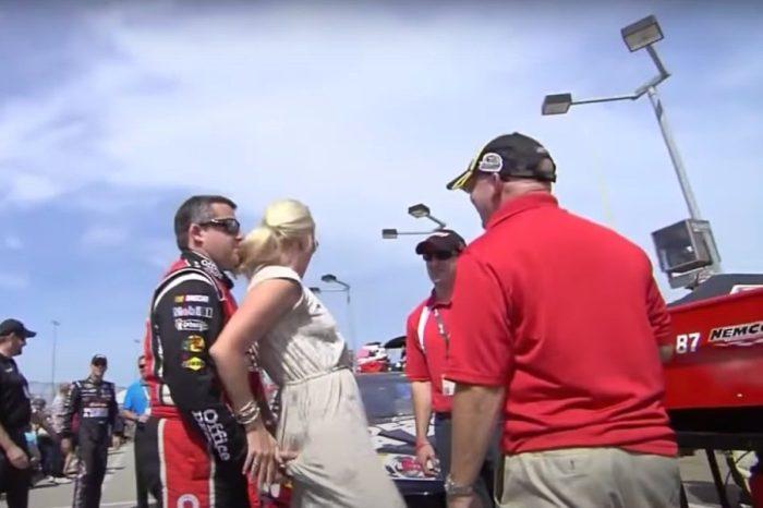 Tony Stewart Grabs DeLana Harvick's Butt Before 2012 Race