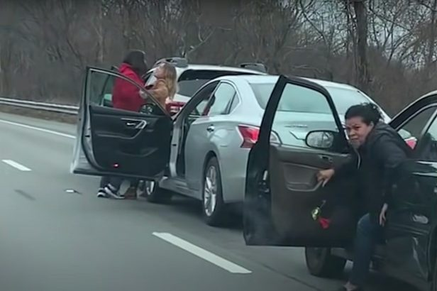 Angry Women Come to Blows in Road Rage Fight on Highway