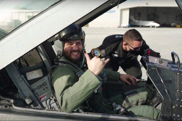 UFC Fighter Jorge Masvidal Braves G-Forces of a Fighter Jet