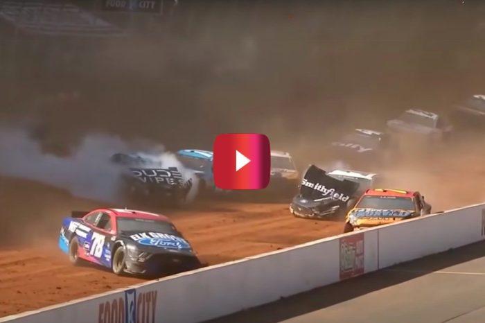 "NASCAR Driver Aric Almirola Triggers ""Big One"" at Bristol Dirt Race"