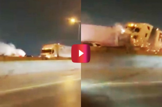 FedEx Truck Slams Into 100-Car Pileup in Texas