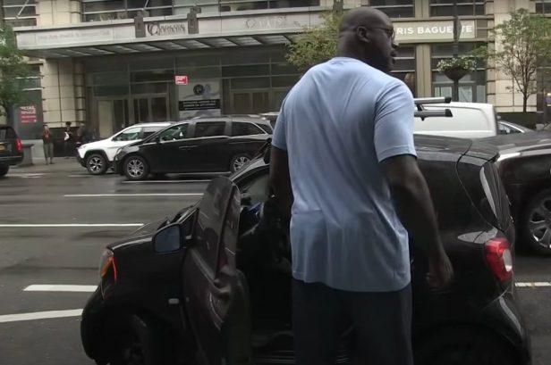 Hilarious Video Shows Shaq Driving Smart Car