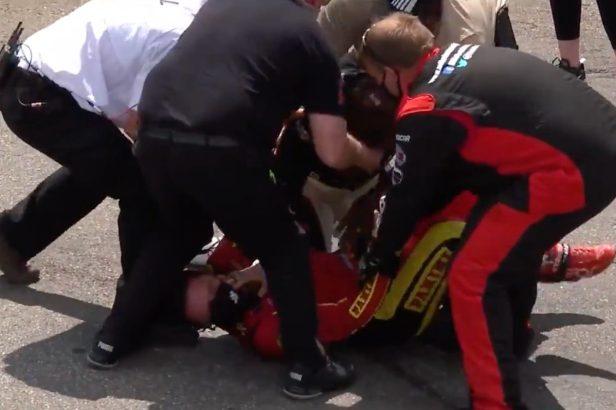 NASCAR Drivers Gray Gaulding and Joe Graf Jr. Fight After Martinsville Race