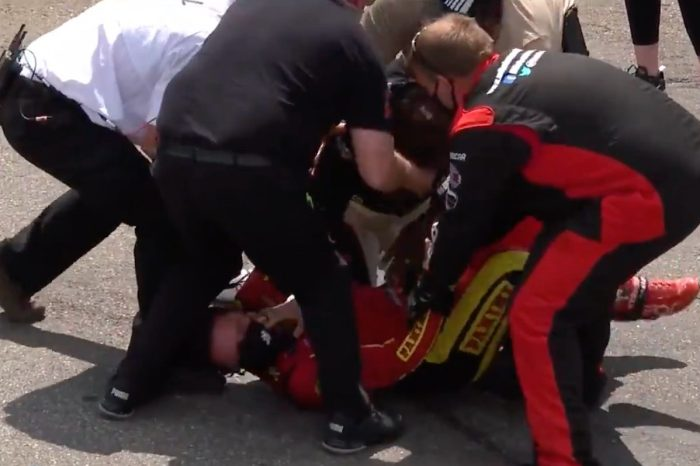 NASCAR Drivers Gray Gaulding and Joe Graf Jr. Fight After Martinsville Race