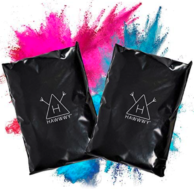 Hawwwy Colorful Powder for Gender Reveal Powder for Burnout Baby Girl Announcement Colored Tannerite Surprise Holi Unique Fun Game Motorcycle Exhaust Car Tires Truck Photography Pink/Blue Incognito