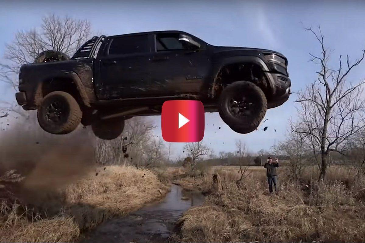 Street Speed 717 ram truck jump video