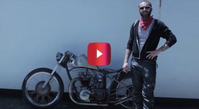 custom 1961 triump motorcycle