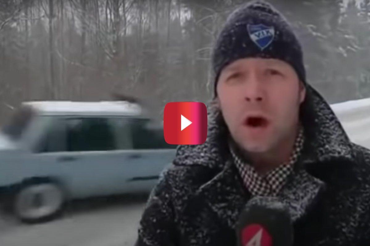 drifting volvo 740 interrupts live broadcast