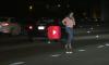 drunk woman wanders onto freeway