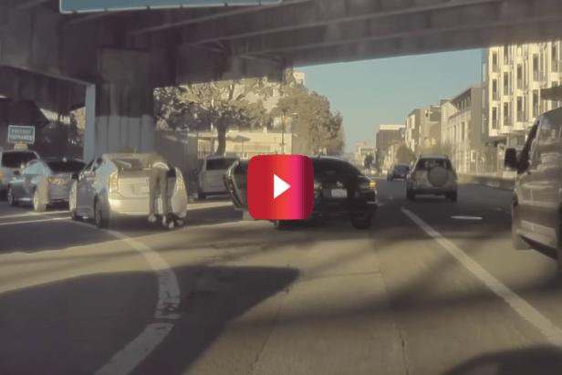 Highway Robber's Dirty Deed Gets Captured on Teslacam