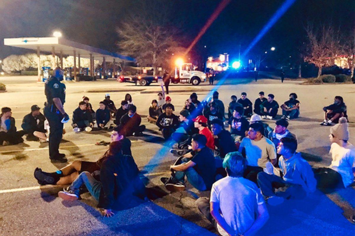 street racers arrested in sams club