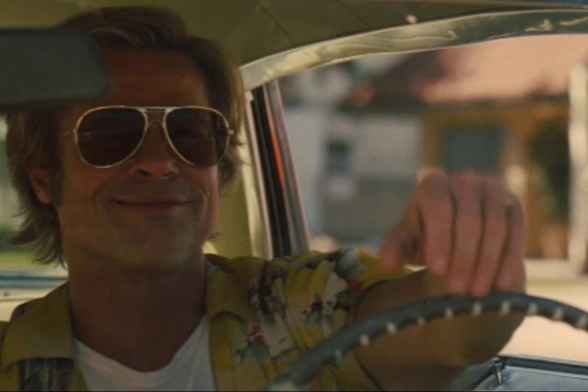 brad pitt driving once upon a time in hollywood