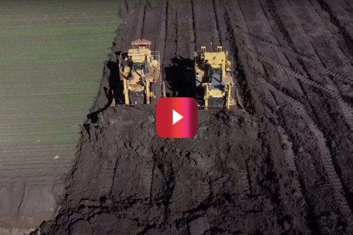 Satisfying Video Shows Massive Bulldozers Putting in Serious Farm Work