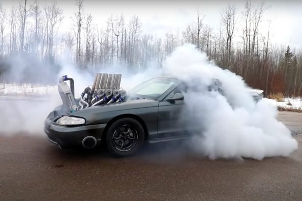 This 8-Turbo Mustang Looks and Sounds Like an Absolute Monstrosity