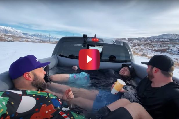 Buddies Drive Around in a Truck Bed Hot Tub, and Even Hit Up a McDonald's Drive-Thru