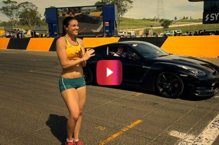 "Olympic Hurdler Takes on Nissan GTR in ""Top Gear"" Drag Race"