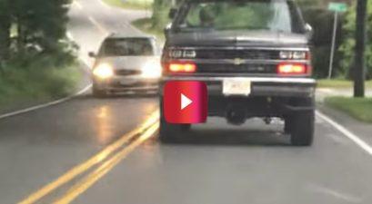 backwards chevy truck