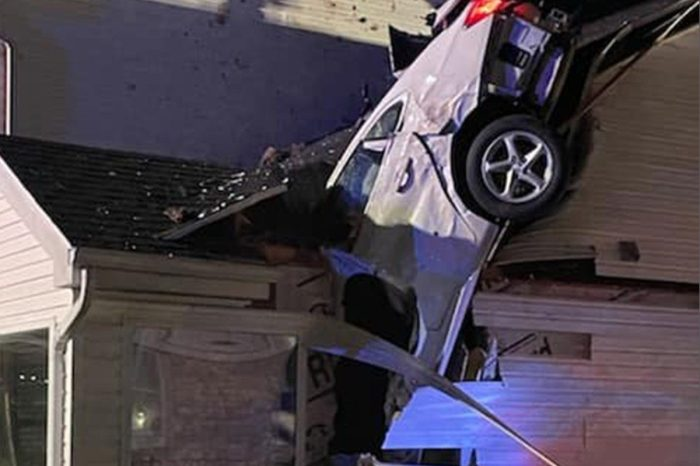 Car Crashes Through Roof of Home and Barely Misses Couple Sleeping Inside