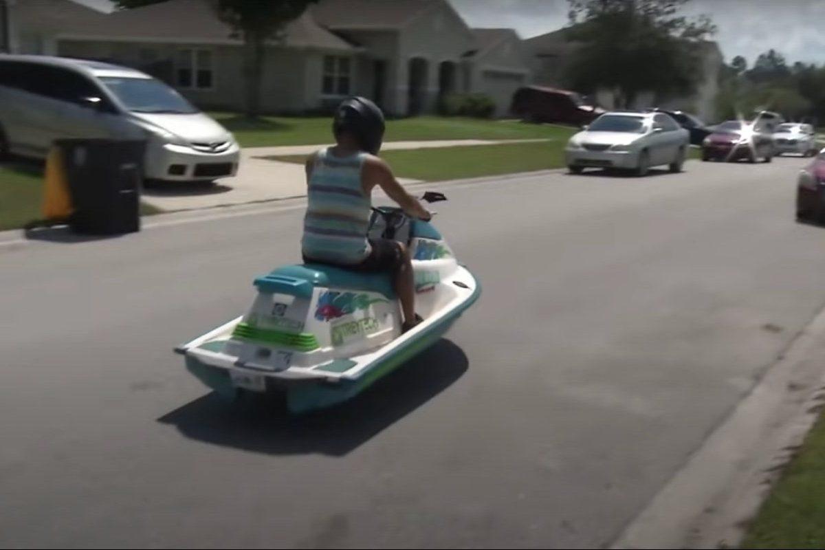 florida man jet ski scooter