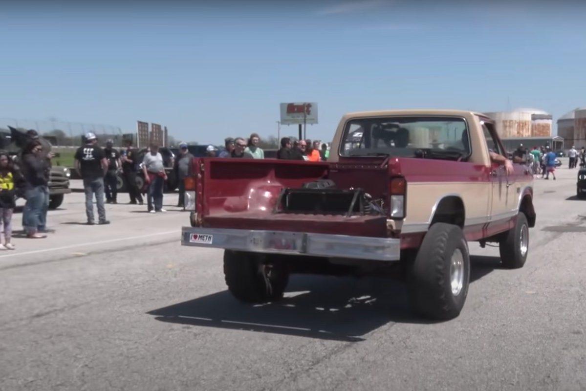 ford f-150 backwards truck