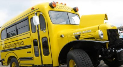 hellcat powered dodge power wagon school bus
