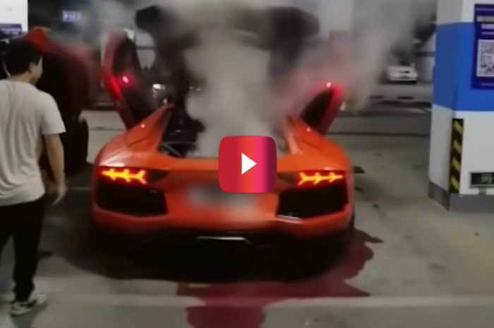Lambo Goes Up in Smoke When Owner Tries to Cook a Kebab