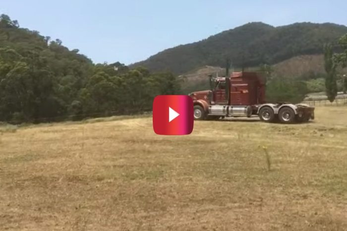 13-Year-Old Country Kid Learns to Drive Big Rig and Makes His Dad Proud