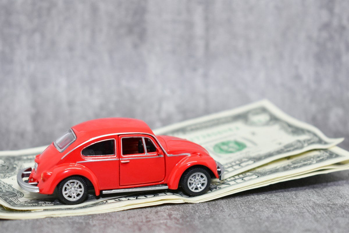 car on money