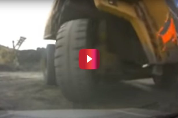 Massive Haul Truck Crushes an SUV With Mechanics Inside, and the Footage Is Wild
