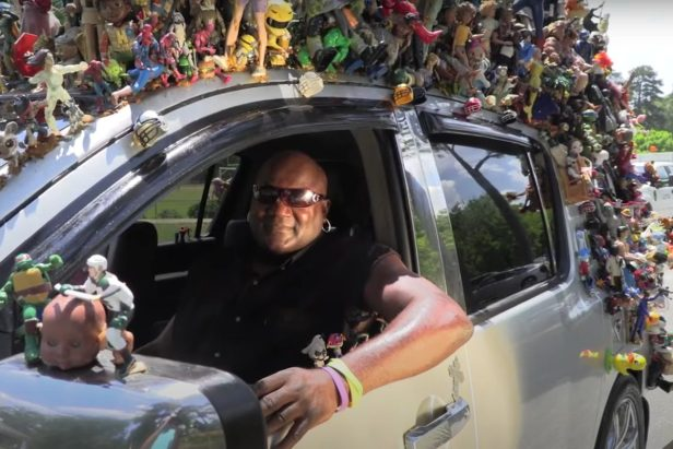 Man With Over 1,000 Action Figures on His Nissan Armada Is a Columbus, Georgia Celebrity