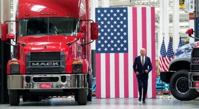 joe biden mack trucks