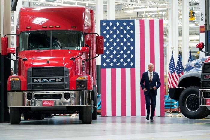 "President Biden Highlights His ""Buy American"" Initiatives During Mack Truck Factory Visit"
