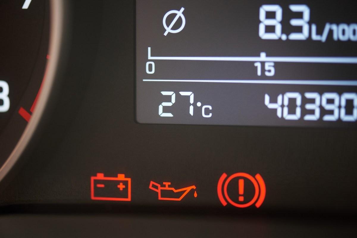 low oil pressure light