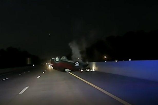 Shocking Video Shows Cop Flip a Pregnant Woman's SUV Via PIT Maneuver