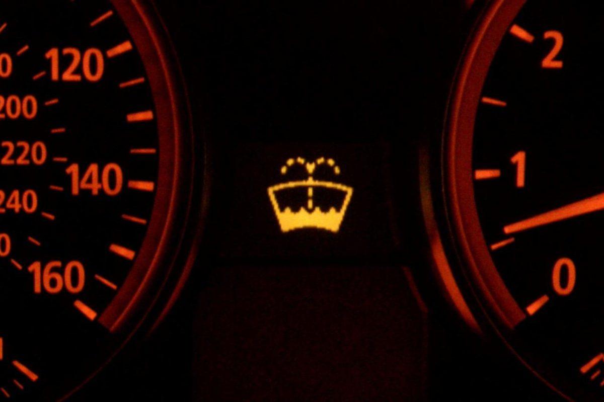 windshield washer warning light