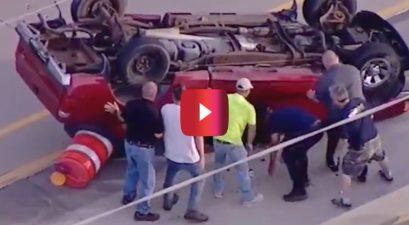 good samaritans rescue ford ranger driver