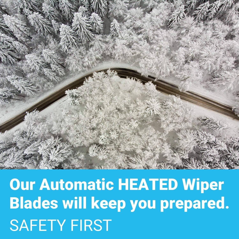 heated windshield wipers