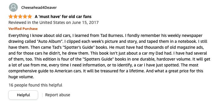my dad had that car book