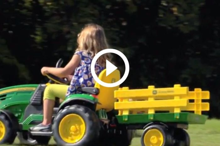 $275 John Deere Tractor Is Perfect for Kids Enamored With Farm Equipment