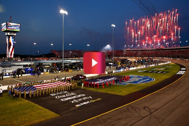 """NASCAR Fans Break Into """"U-S-A"""" Chants on 20th Anniversary of 9/11 Attacks"""
